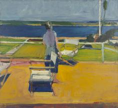 During his years in Berkeley, Richard Diebenkorn was deeply engaged with the unique setting of the Bay Area, saturating his works with color, light, and atmosphere. Description from californianative.com. I searched for this on bing.com/images