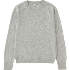 UNIQLO Women Cashmere Crewneck Sweater found on Polyvore featuring tops, sweaters, cashmere sweaters, uniqlo, cashmere tops, crew neck tops and layered tops