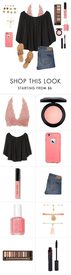 """""""Blushing"""" by aclaireb-1 ❤ liked on Polyvore featuring Charlotte Russe, MAC Cosmetics, MANGO, LifeProof, Bobbi Brown Cosmetics, Abercrombie & Fitch, Tory Burch, Forever 21, Urban Decay and Smashbox"""