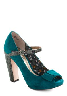 Fifth Wheel Heels by Seychelles - Blue, Grey, Bows, Mary Jane, Peep Toe, High, Leather, Animal Print, Party, Fall