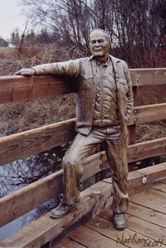public art commission bronze sculpture old farmer roy saanich bc nathan scott