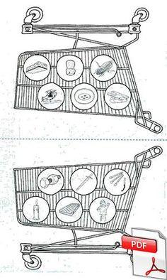 Phonologie - jeu du supermarché French Course, French Class, Cycle 3, Preschool, Montessori, Education, Math, Logos, Kids