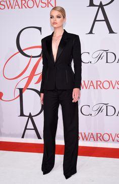 Daphne Groenevald in Tom Ford and Eva Fehren jewelry   - HarpersBAZAAR.com