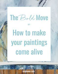 The bold move, how to make your paintings come alive. Want to know how to make a painting you love? It doesn't have to be complicated, and you don't need to have a degree or know all the theory. Acrylic Painting Techniques, Painting Lessons, Art Techniques, Diy Painting, Art Lessons, Painting & Drawing, Watercolor Painting, Painting Classes, Mind Reading Tricks