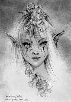 Clarence-Mcgraw on deviantart fantasy art: faeries, elves, brownies & m Fairy Coloring, Colouring Pages, Adult Coloring Pages, Elfen Tattoo, Fairy Sketch, Deviantart Fantasy, Fairy Drawings, Pencil Drawings Of Nature, Fairy Tattoo Designs