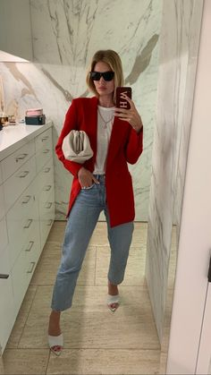 """noirsilk: """"I love when she posts her outfits """" Classy Outfits, Casual Outfits, Fashion Outfits, Casual Chic, Moda Hipster, Looks Style, My Style, Moda Outfits, Look Blazer"""