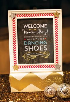 Dancing With the Stars / Strictly Come Dancing themed party inspiration from Hostess with the Mostess