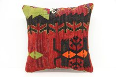 Decorative Kilim Pillow Cover 14 x 14 by kilimwarehouse on Etsy