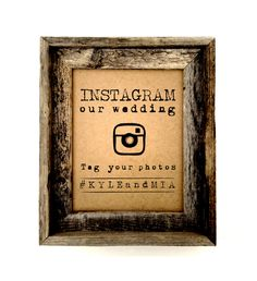 Instagram wedding sign  Rustic wedding sign  by AnnsPaperie, $12.00