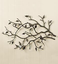 indoor/outdoor-cast-iron-bird-branch-wall-art