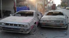 Wrecked DeLoreans Found In Baghdad - http://barnfinds.com/wrecked-deloreans-found-in-baghdad/