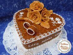 Gyűrűs , szezámrózsás szívdoboz Cake Cookies, Gingerbread Cookies, Cakes, Desserts, Food, Ideas, Gingerbread Cupcakes, Tailgate Desserts, Deserts