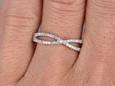 Natural DiamondsHalf Eternity Wedding Ring14K White by popRing