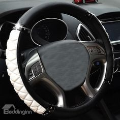 Classical Style Bright Tangerine White and Black Car Steering Wheel Cover  on sale, Buy Retail Price Steering Wheel Covers at Beddinginn.com