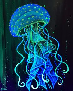 New Painting Acrylic Jellyfish Art Ideas Jellyfish Painting, Trippy Painting, Neon Painting, Light Painting, Jellyfish Drawing, Octopus Painting, Jellyfish Tattoo, Jellyfish Quotes, Painting Inspiration