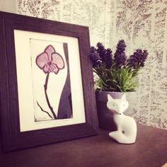 Orchid painting in our bedroom, made by Jenny Holmgren Myrdahl