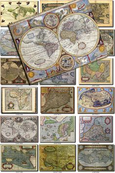 ANTIQUE MAPS Collection-2 of 100 large size images printable old ancient World ephemera card vintage Earth download 300 dpi High resolution