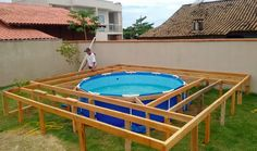 HE COULDN'T AFFORD A NICE SWIMMING POOL BUT HIS DIY ALLOWED HIM TO SAVE MONEY