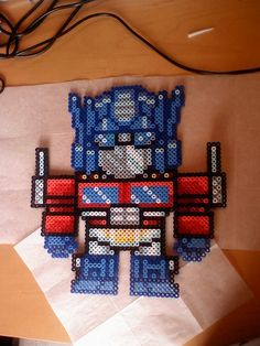 optimus prime perler hama by ~Silvermist5 on deviantART