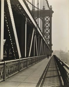 Manhattan Bridge, from the series Changing New York  1936 Berenice Abbott Born: Springfield, Ohio 1898  Died: Monson, Maine 1991  gelatin silver print mounted on paperboard sheet: 17 7/8 x 14 1/8 in. (45.3 x 35.9 cm.) Smithsonian American Art Museum