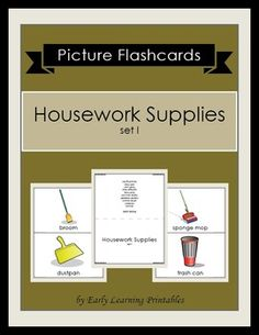 Click here to download your Housework Supplies (set I) Picture Flashcards: $2.85