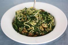 5 or less: Spaghetti met kastanje-champignons