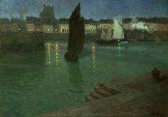 Frits Thaulow 1847-1906: Havnen i Dieppe