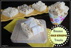 Banana Rice Krispie Treats @Liting Sweets