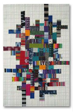 Grid #2 by Liz Kuny, contemporary quilt artist....hmmm, Hayden likes this one.