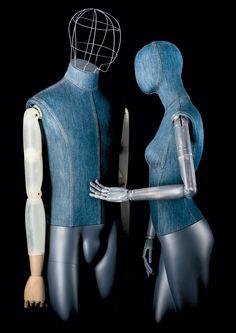 DENIM #jeans #atelier #vintagemannequin #limbs