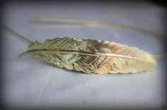 EVA Gold Feather Headband by PompAndPlumage on Etsy, $12.00