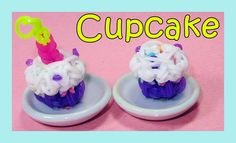 Rainbow Loom Charms: 3D CUPCAKE (Barbie + American Girl Doll Accessory tutorial by DIY Mommy.