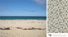 We're headed to the beach this #mosaicmonday with the coastal-inspired color palette of our Ebb & Flow Glass mosaic tiles in Sand and Surf. // #mosaics #instadesign #tiled #tiling #tilework #walltile #glasstile #archilovers #interior #interiors #interiordesign #tilelove #tileaddiction #backsplash #splashback #interiordesigner #interiorinspiration #instahome #instadecor #idcdesigners #ihavethisthingwithtiles #walltiles #ihavethisthingwithwalls #coastalliving #coastaldecor by crossvilleinc