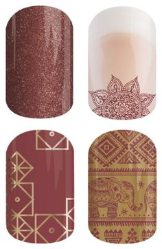 Tap into your inner self and say 'ohm' this bohemian look is perfect for the free spirited, peaceful girl at heart. Marsala, the pantone color of the year, is perfect for fall, and the gold accents give this look a world flair. Enjoy a Buy 3 Get 1 Free with this fun look! Featuring #sparklingmarsalajn #ohmjn #marsalaskyjn and #marsalapalacejn #Jamberry #marsala #bohochic #boho #bohemian