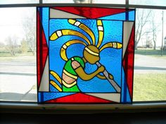 Stained Glass Kokopelli, made by me, Vicky True-Baker