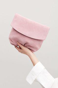 COS | Gathered suede shoulder bag