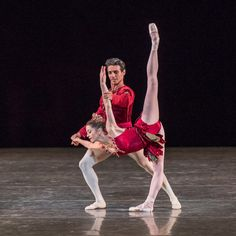 Megan Fairchild and Joaquin de Luz in Rubies. © Stephanie Berger Jewels, choreography by George Balanchine, ©The George Balanchine Trust.