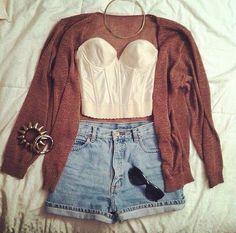 Cardigan & shorts