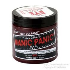 http://www.beauba.com/products/detail.php?product_id=18363 Manic Panic Hair Color Plum Passion 118ml. #HairDyeRelatives #HairManicure  Alkali free hair color usable for damaged hair. Blended with natural herbs and bee wax that leaves hair with a glossy silky finish. Ph level approximately ph3.5 Acid-base color.