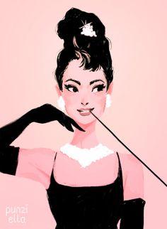 Trendy breakfast at tiffanys art drawing holly golightly 22 Ideas Audrey Hepburn Art, Sketches, Illustration, Drawings, Cute Art, Art, Pop Art, Prints, Punziella