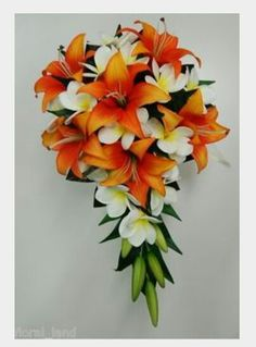 Tiger lily bridal bouquet