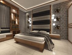 Find home projects from professionals for ideas & inspiration. Flat Interior Residency Rajarhat Kolkata by Creazione Interiors Master Bedroom Interior, Bedroom Bed Design, Modern Bedroom Design, Bedroom Furniture, Bedroom Decor, Flat Interior Design, Best Interior, Bed Back Design, Wardrobe Door Designs