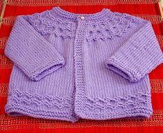 fio Baby Charm ( Aslan ) agulhas número 5 ( retas e de 2 pontas) original : Seamless Yoked Baby Sweater Tradução livre ( foi como eu fiz) amostra: 13 pontos=5cm Colocar 60 pontos 1a. carr : meia 2a...