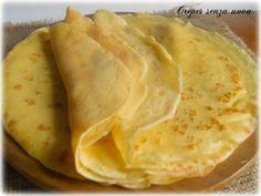 crepes senza uova Eggless Recipes, Vegan Recipes, Cooking Recipes, Omelette, Frittata, Biscotti, Nutella, Big Meals, Vegan Breakfast Recipes