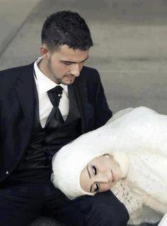 Newly married Muslim couple