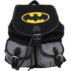 DC Comics Batman Medium Slouch Backpack Hot Topic (665 CZK) ❤ liked on Polyvore featuring bags, backpacks, accessories, batman, slouchy bag, black rucksack, rucksack bag, slouch bag and grey backpack