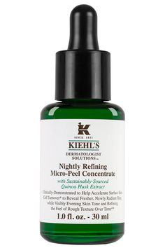 This nightly serum gently exfoliates skin while you sleep. Just pat a few drops onto your face as part of your nighttime routine (you can layer this under other serums or creams). It doesn't sting or tingle. Instead, you'll just wake up looking just a little glowier, not redder.  Kiehl's Nightly Refining Micro-Peel Concentrate, $54, Kiehl's.com