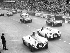 The Aston Martin DB3S during the race...