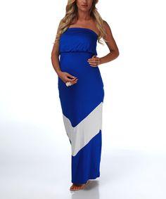 Sleeveless maxi maternity dress