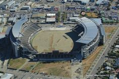 March 05, 2013 - AMI Stadium/ Lancaster Park, Christchurch - Liquifaction is clearly evident across the entire playing field. The stadium is to be demolished